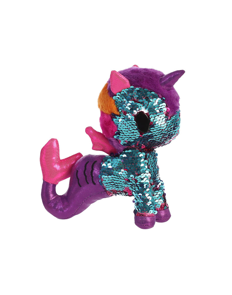 "Oceania Mermicorno 7.5"" Reversible Sequin Plush Side"