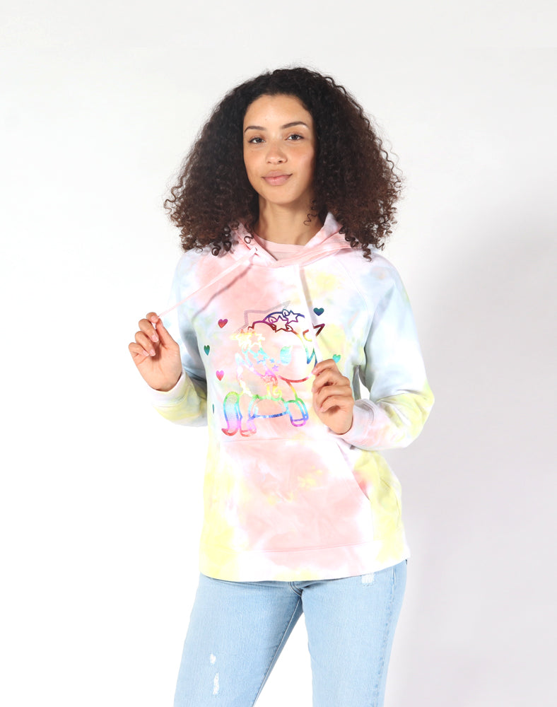 Peace Out Tie Dye Hoodie Close