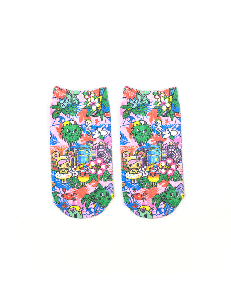 Pink Tropical Socks (Kids)