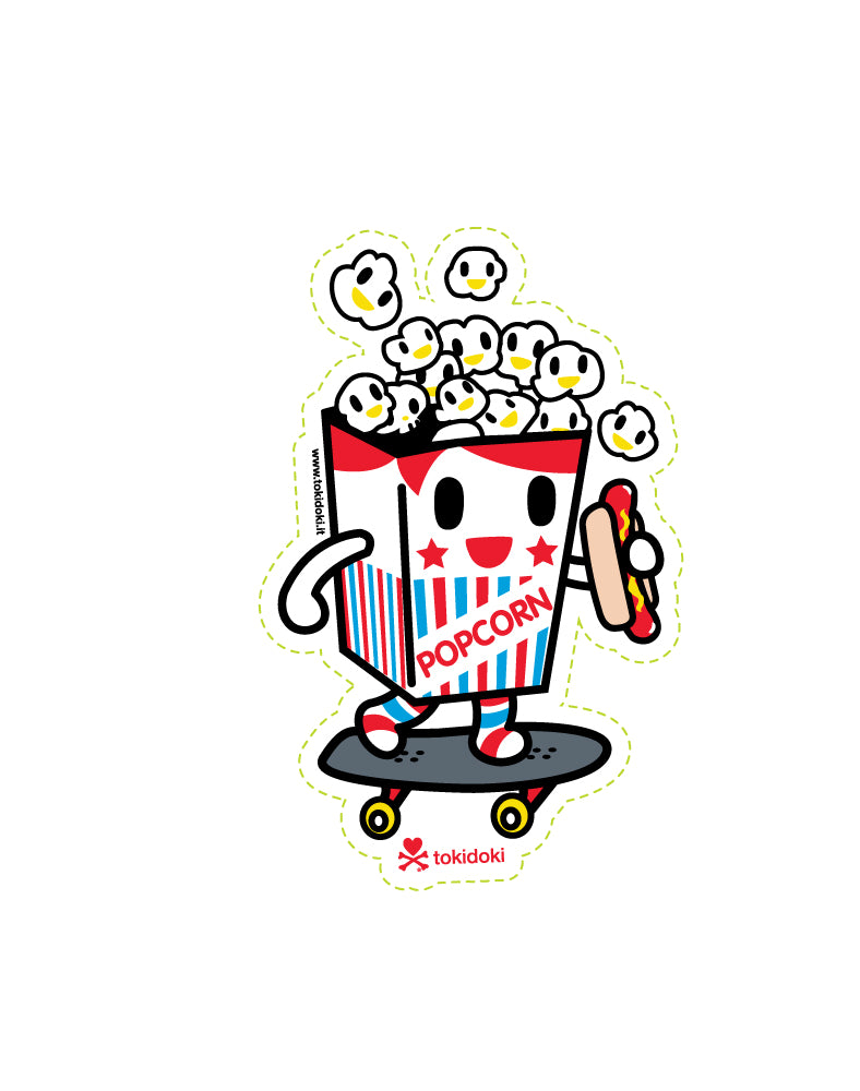 Popcorn Guy Die Cut Sticker