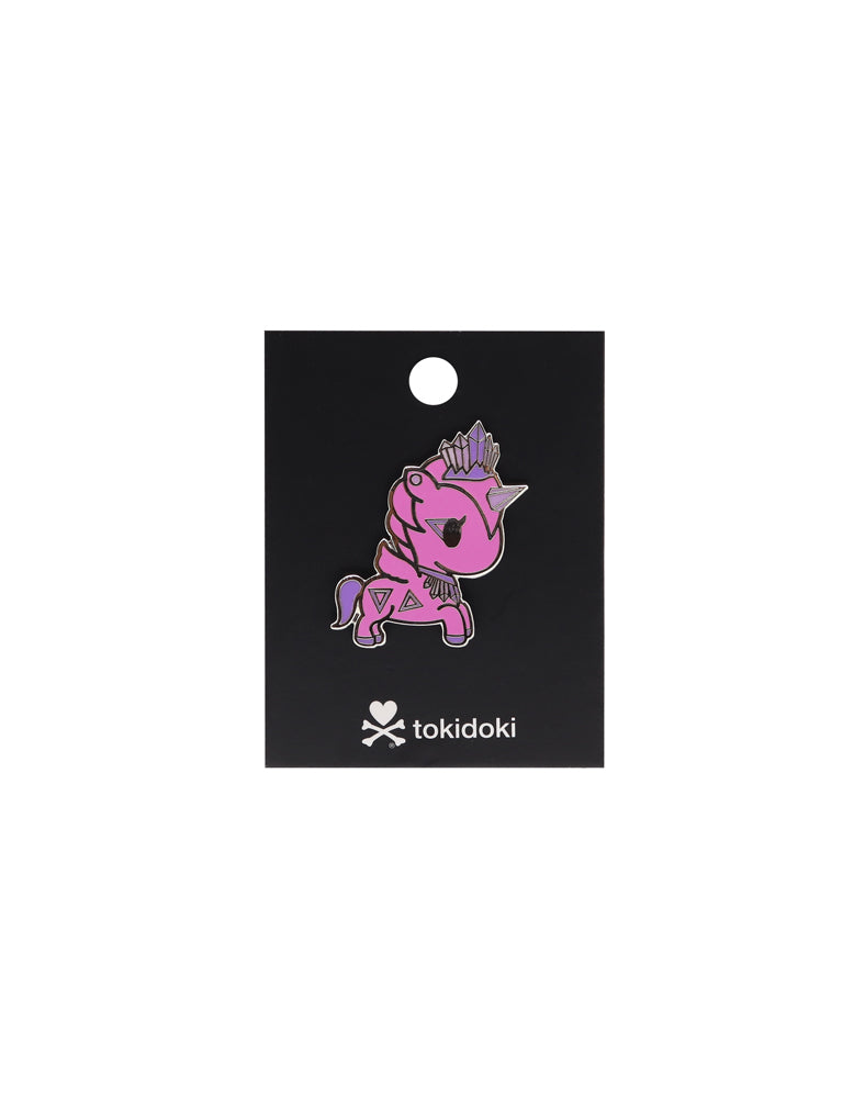 Quartz Unicorno Enamel Pin with Backing Card