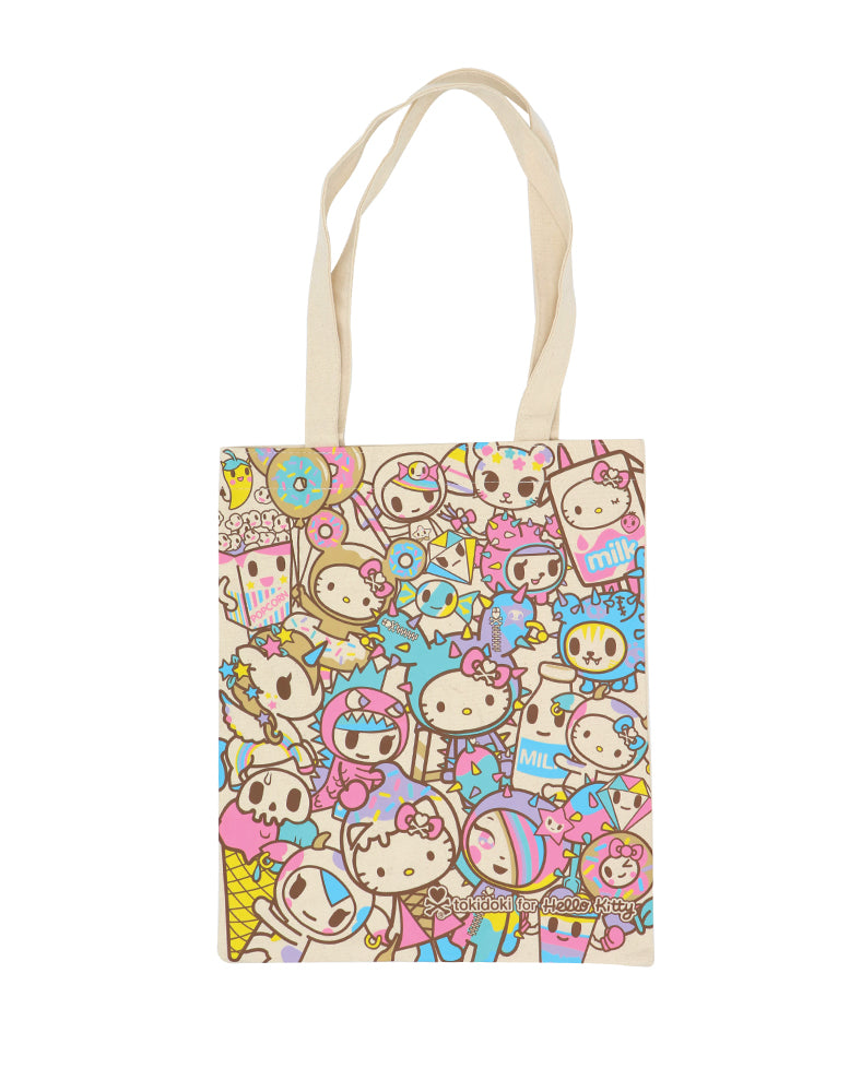 tokidoki x Hello Kitty Rainbow Canvas Tote