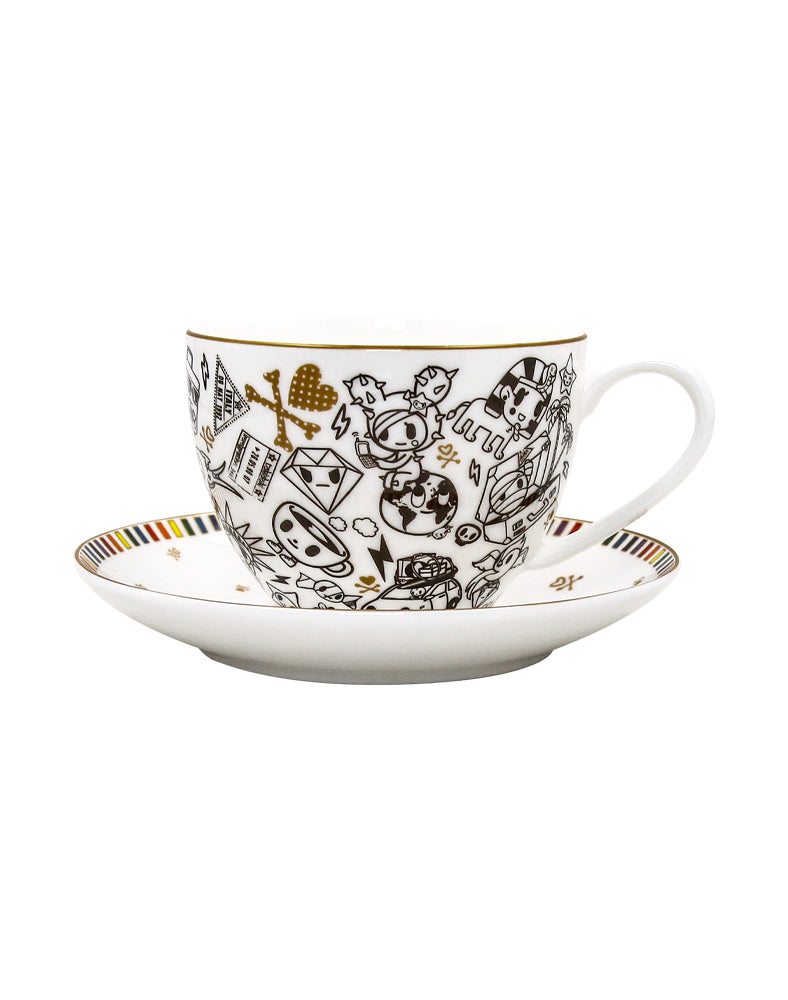 Rainbow Series Ceramic Cup and Saucer
