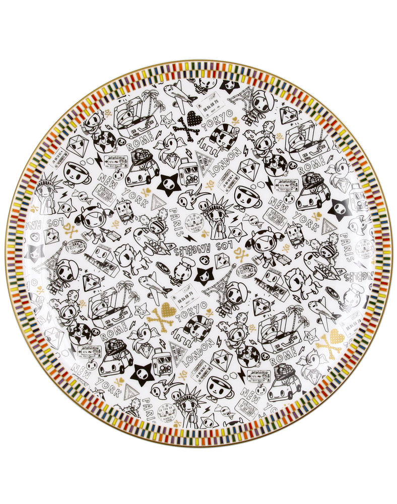 "Rainbow Series White 10"" Ceramic Plate"