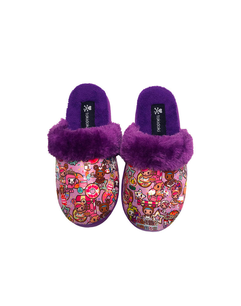 Donutella's Sweet Shop Women's Soft Slippers