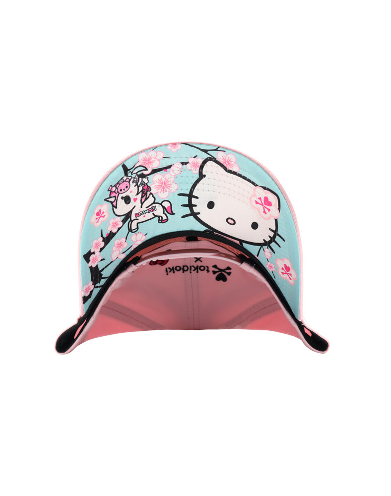 tokidoki x Hello Kitty Sakura Kitty Women's Snapback brim underside