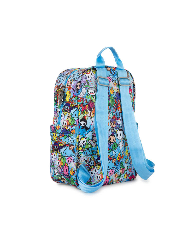 tokidoki x JuJuBe Midi Backpack Sea Amo 2.0 Back