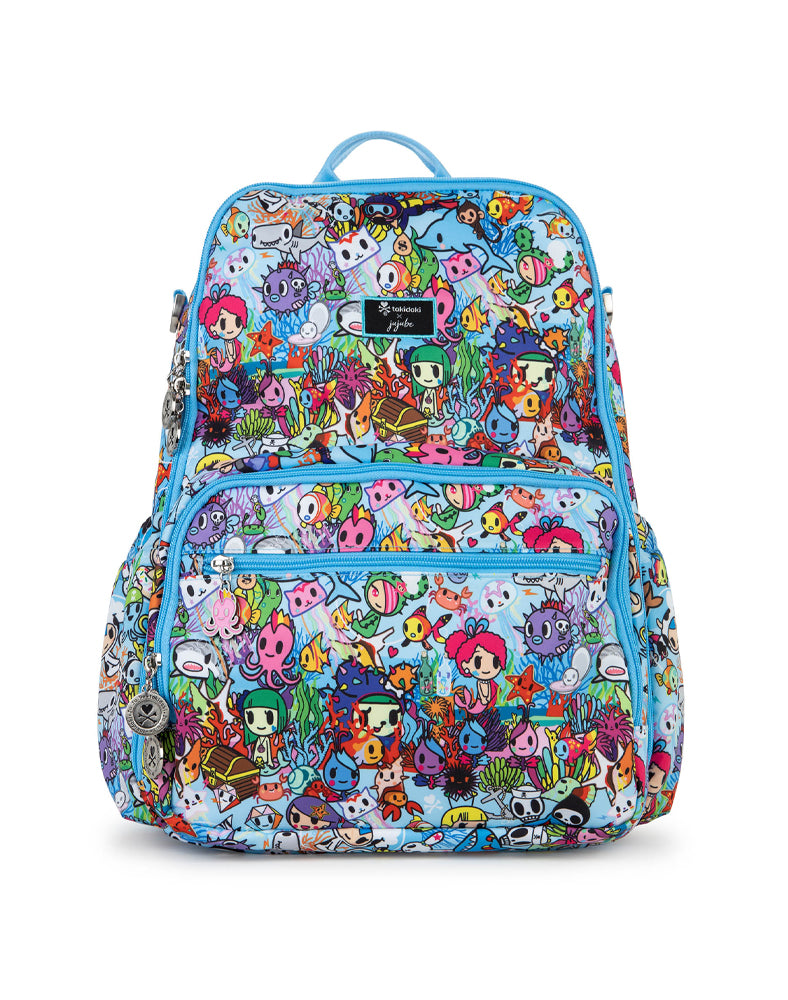 tokidoki x JuJuBe Zealous Backpack Sea Amo 2.0 Front