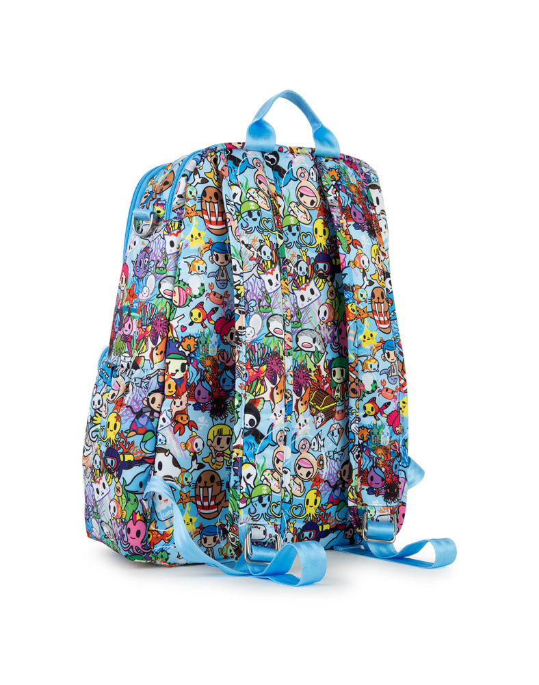 tokidoki x JuJuBe Zealous Backpack Sea Amo 2.0 Back