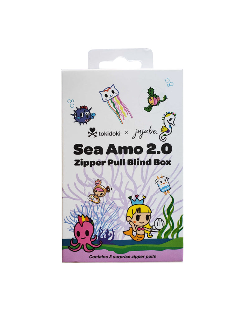 tokidoki x JuJuBe Zipper Pull Blind Box Sea Amo 2.0 Packaging