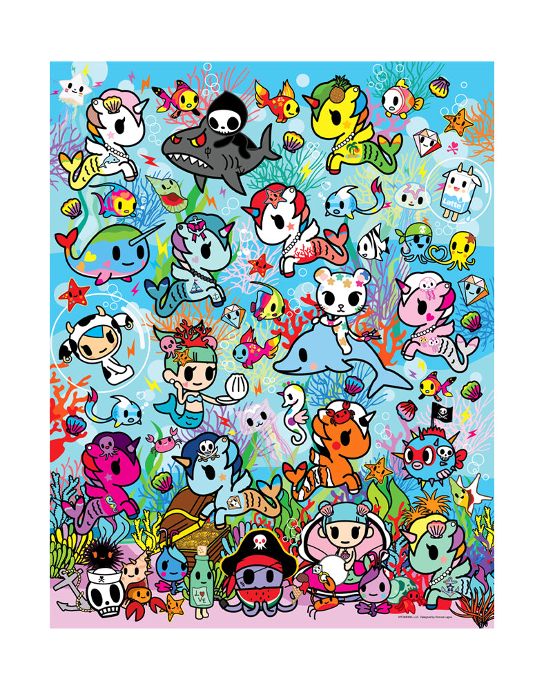 Sea Punk 500 Piece Puzzle Mini Poster