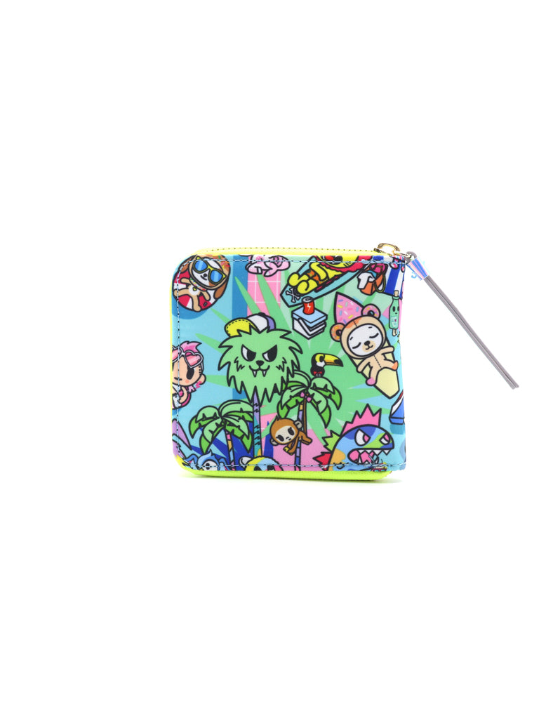 Pool Party Small Zip Around Wallet Back