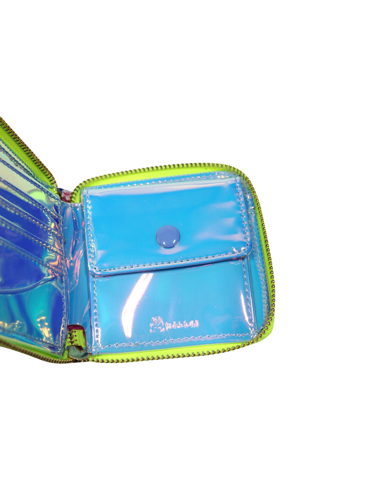 Pool Party Small Zip Around Wallet Inside View