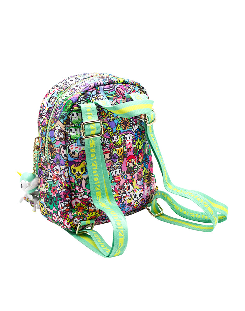 tokidoki Flower Power Mini Backpack Back