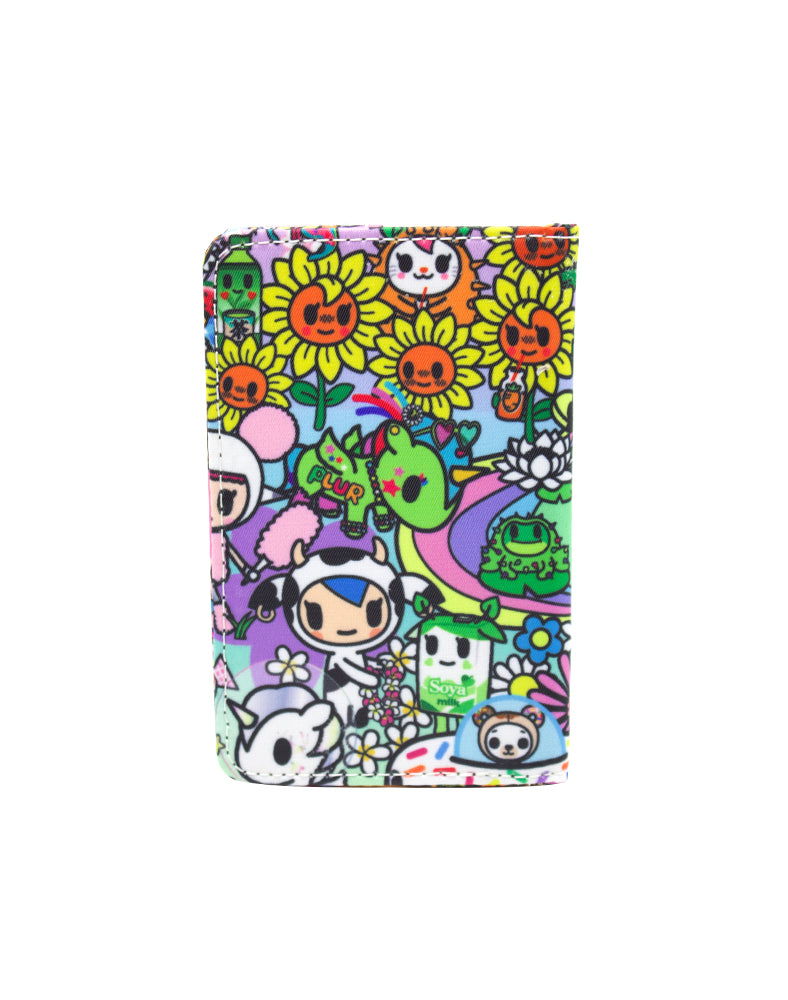 Flower Power Small Bifold Wallet Back