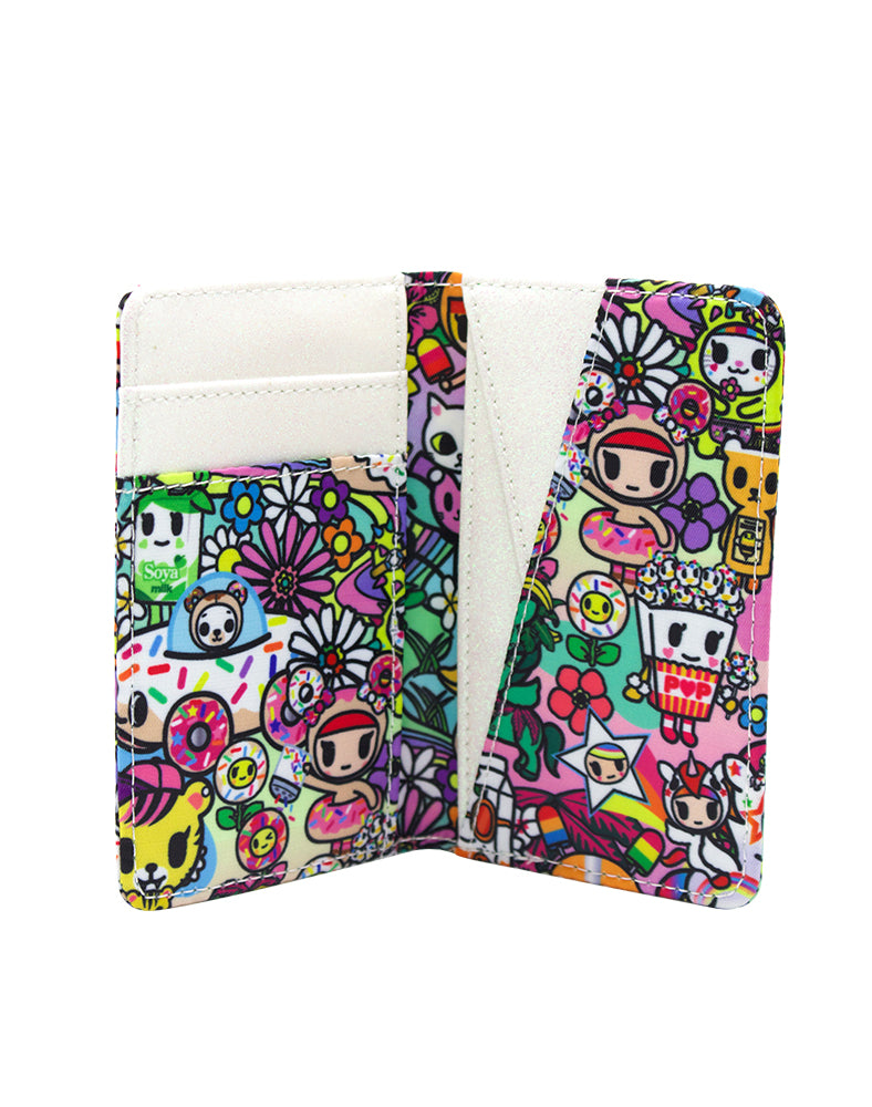 Flower Power Small Bifold Wallet Interior