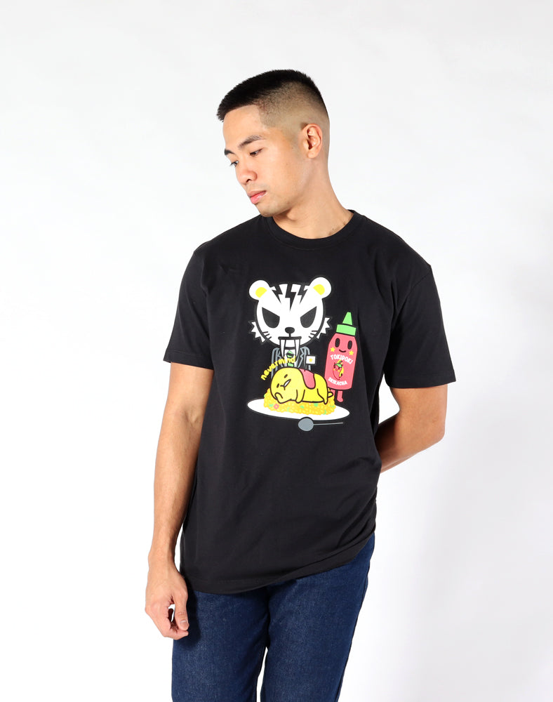 tokidoki x gudetama Spicy Gudetama Tee close up