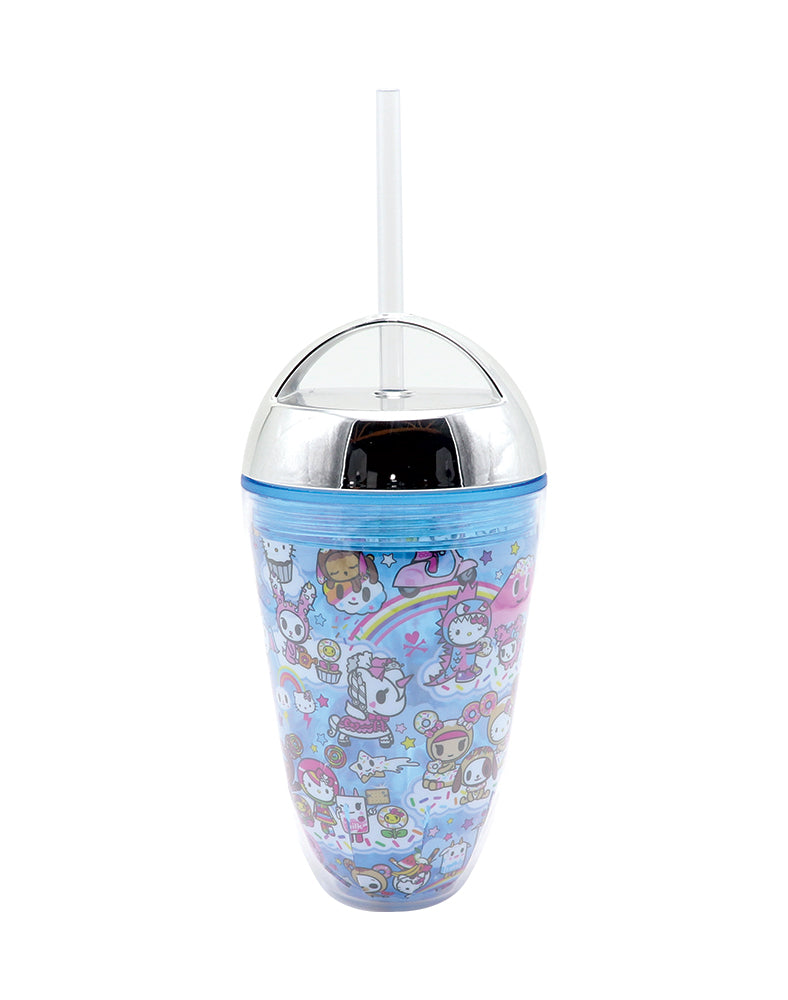 tokidoki x Hello Kitty Sky Blue Straw Cup