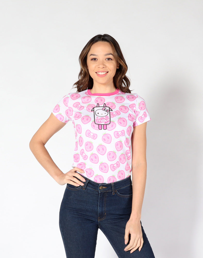 tokidoki x Hello Kitty Strawberry Kitty Tee front