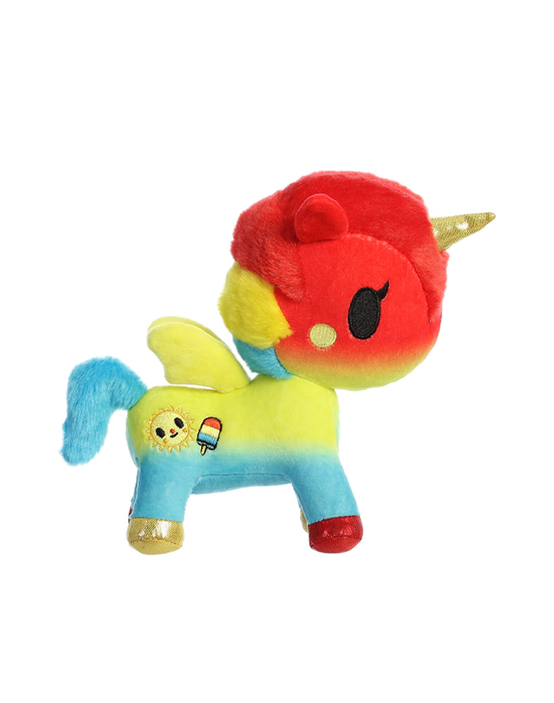 "Summer Unicorno 7.5"" Plush Side"