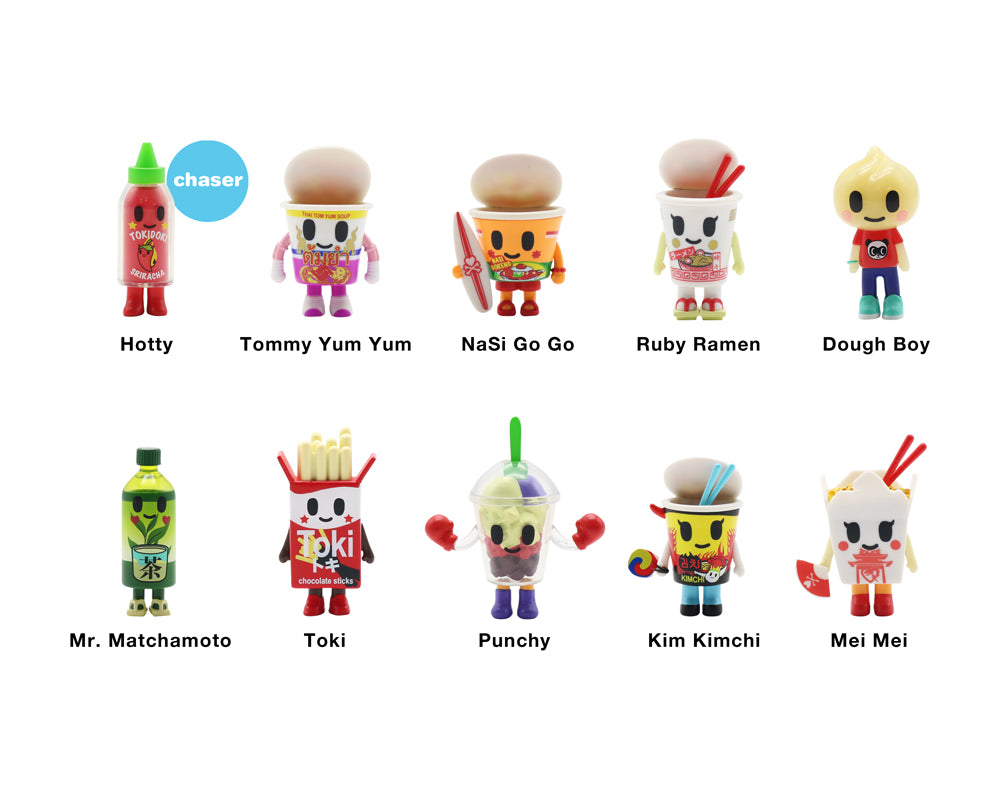 Supermarket Besties Blind Box Collectibles figures with names