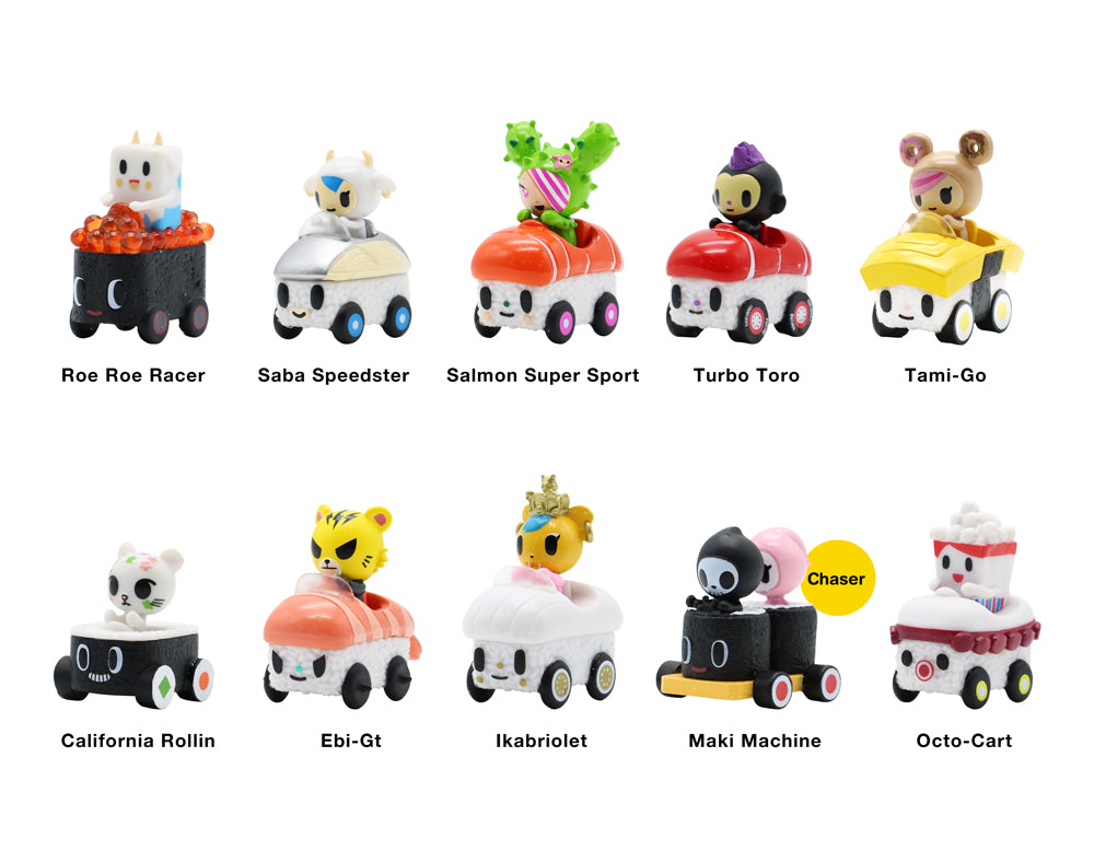Sushi Cars minis Blind Bag Roster