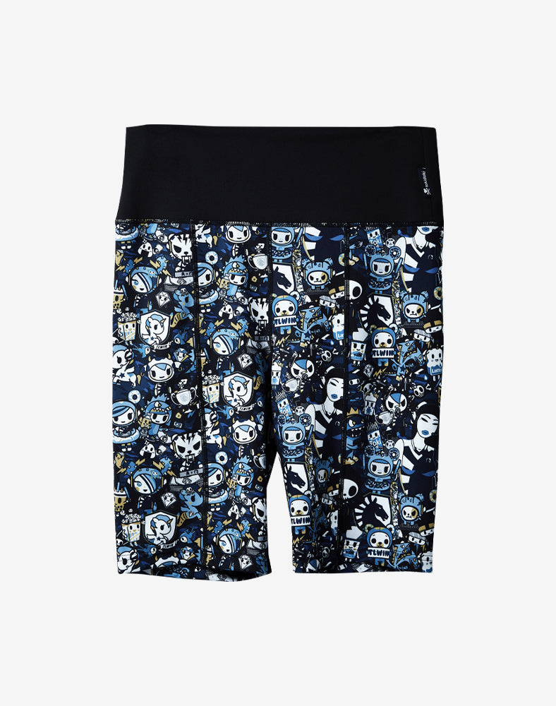 tokidoki x Team Liquid Athletic Bike Shorts Front
