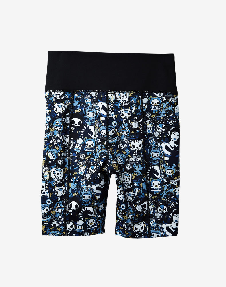 tokidoki x Team Liquid Athletic Bike Shorts Back