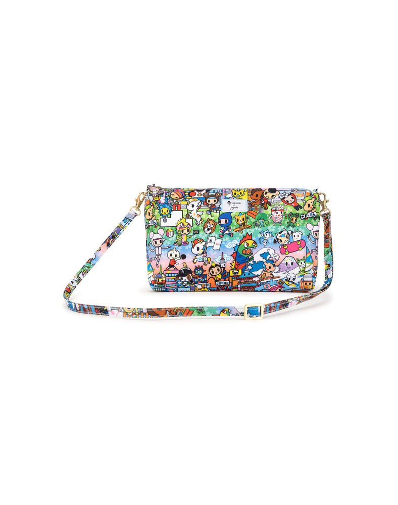 tokidoki x JuJuBe Be Quick Clutch Team Toki Front (Crossbody Strap)