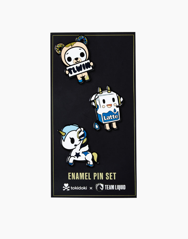 tokidoki x Team Liquid Pin Set Packaging