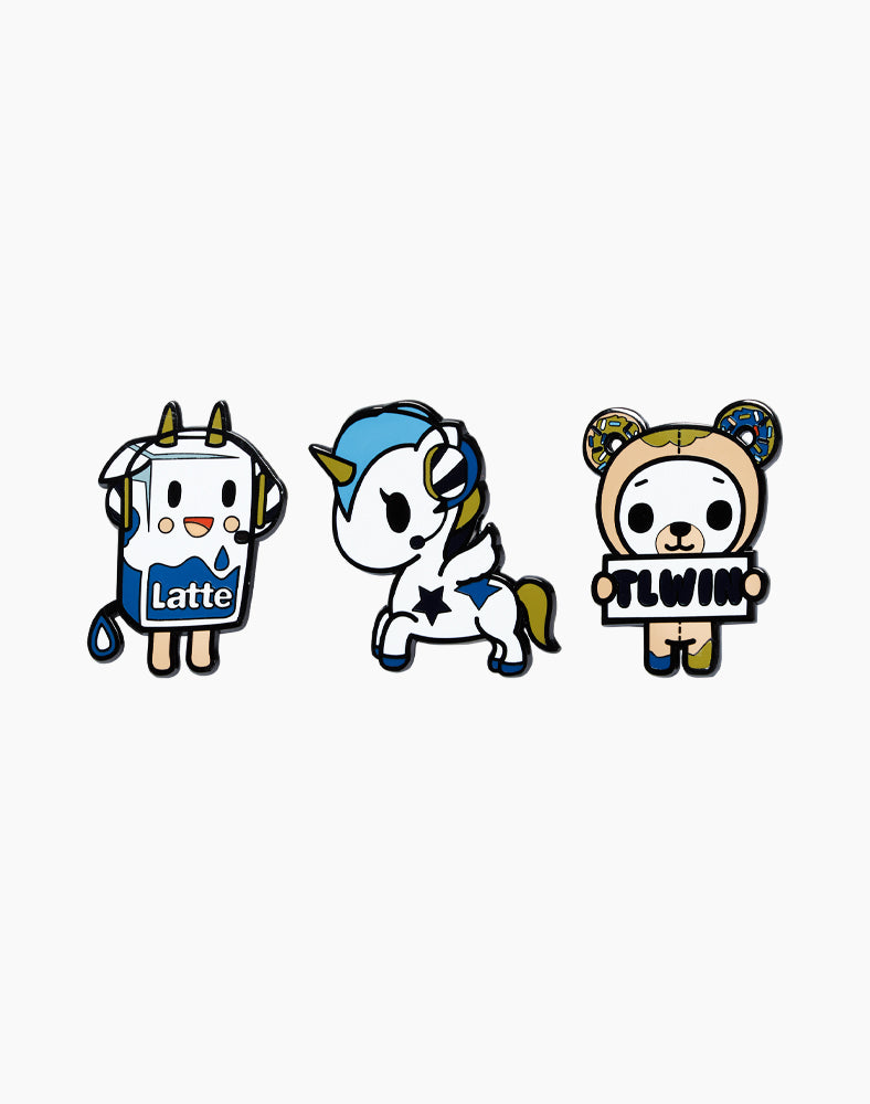 tokidoki x Team Liquid Pin Set
