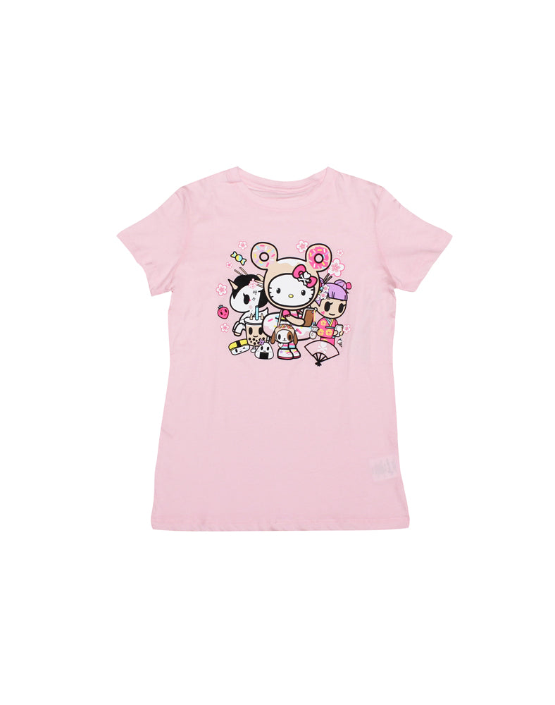tokidoki-Con tokidoki x Hello Kitty You Can't Text With Us Tee