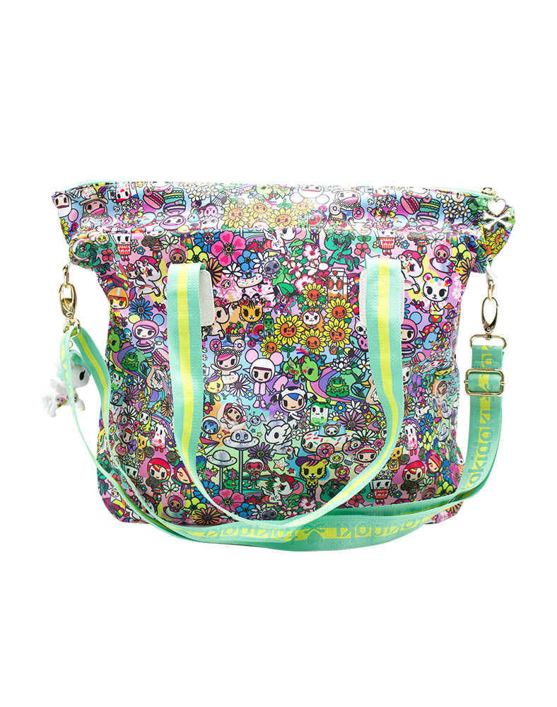 Flower Power Tote Back