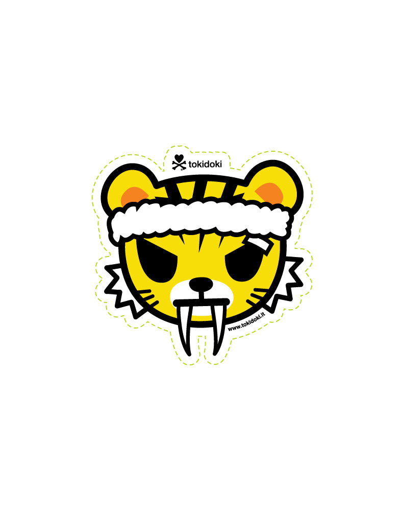 Training Tiger Die Cut Sticker