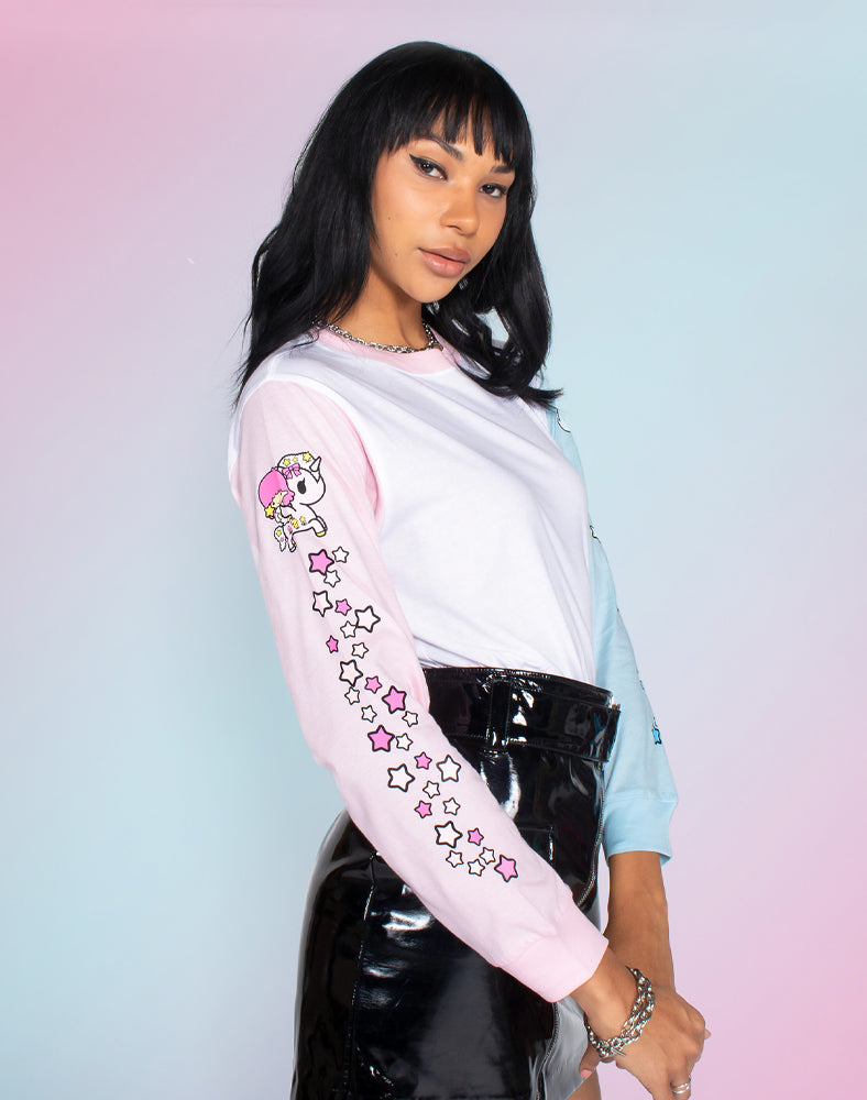 tokidoki x Hello Kitty and Friends Twin Sleeves Long Sleeve Tee (Unisex) Side