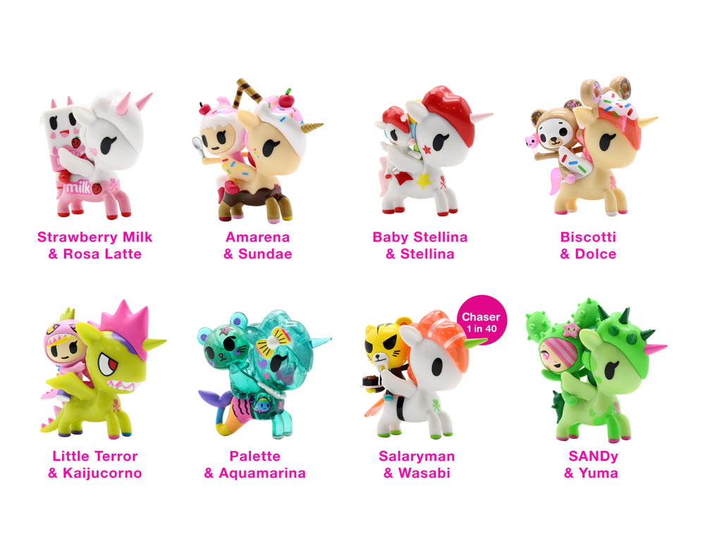 Unicorno & Friends Blind Box Collectibles figures with names