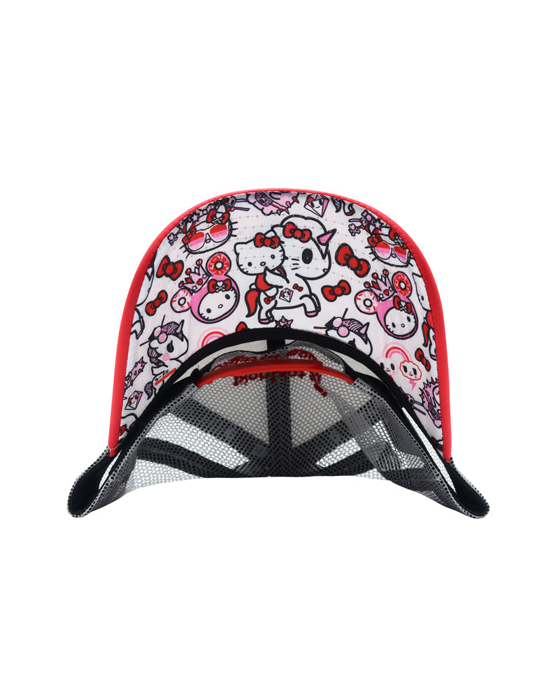 tokidoki x Hello Kitty Women's Unikitty Trucker Hat under brim