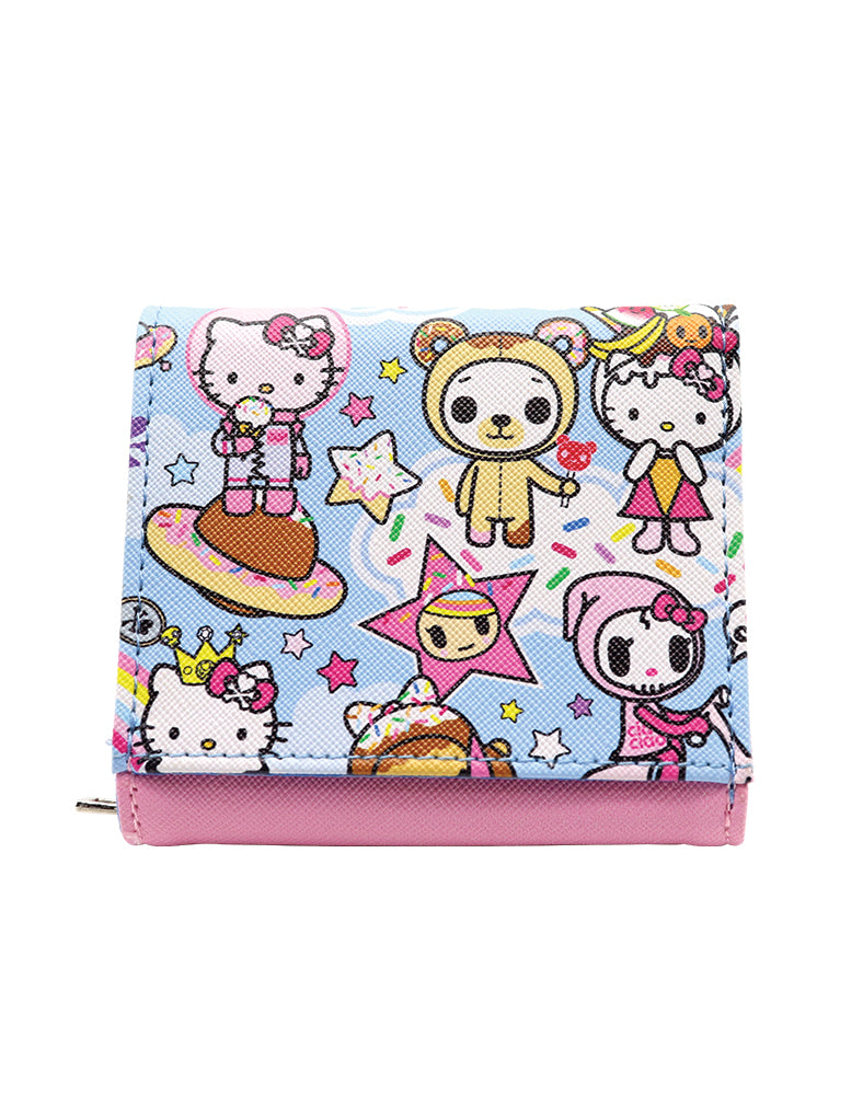 tokidoki x Hello Kitty Sky Blue Wallet Back