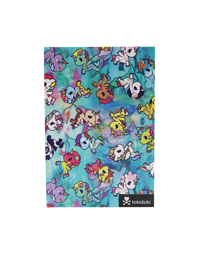 tokidoki Watercolor Paradise Hard Cover Notebook Front Shot