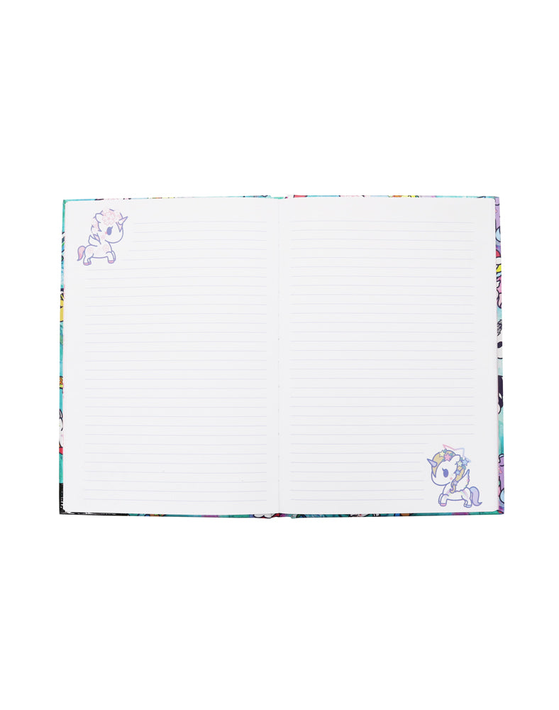 tokidoki Watercolor Paradise Hard Cover Notebook Pages