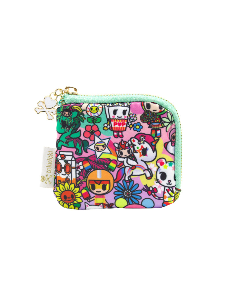 Flower Power Zip Coin Purse Front