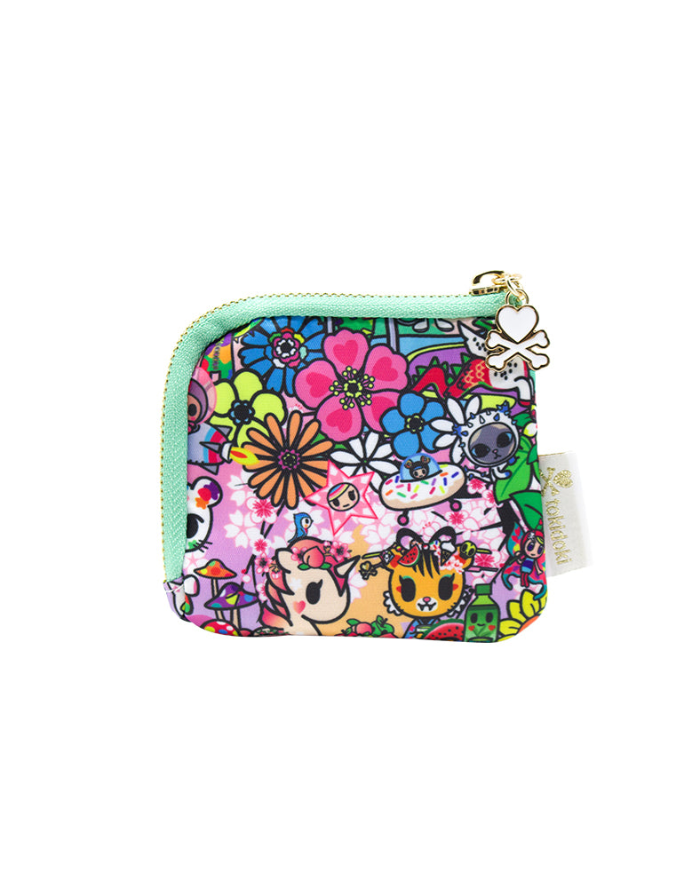 Flower Power Zip Coin Purse Back
