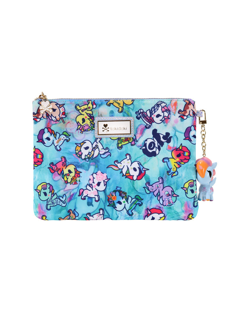 Watercolor Paradise Zip Pouch front