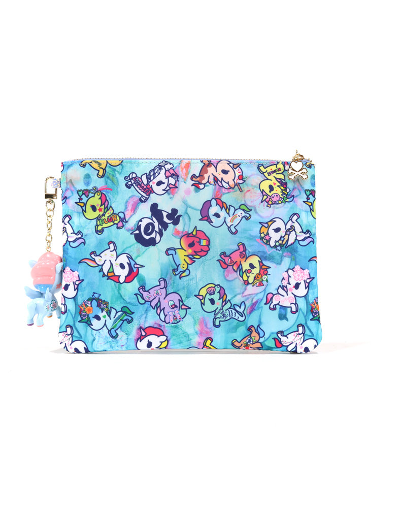 Watercolor Paradise Zip Pouch back