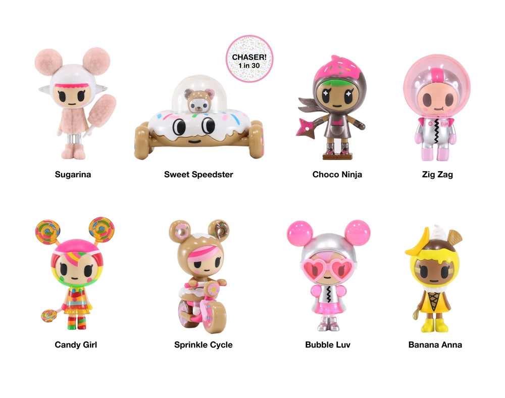 Donutella and her Sweet Friends Blind Box Mini Figures Series 2 figures with names