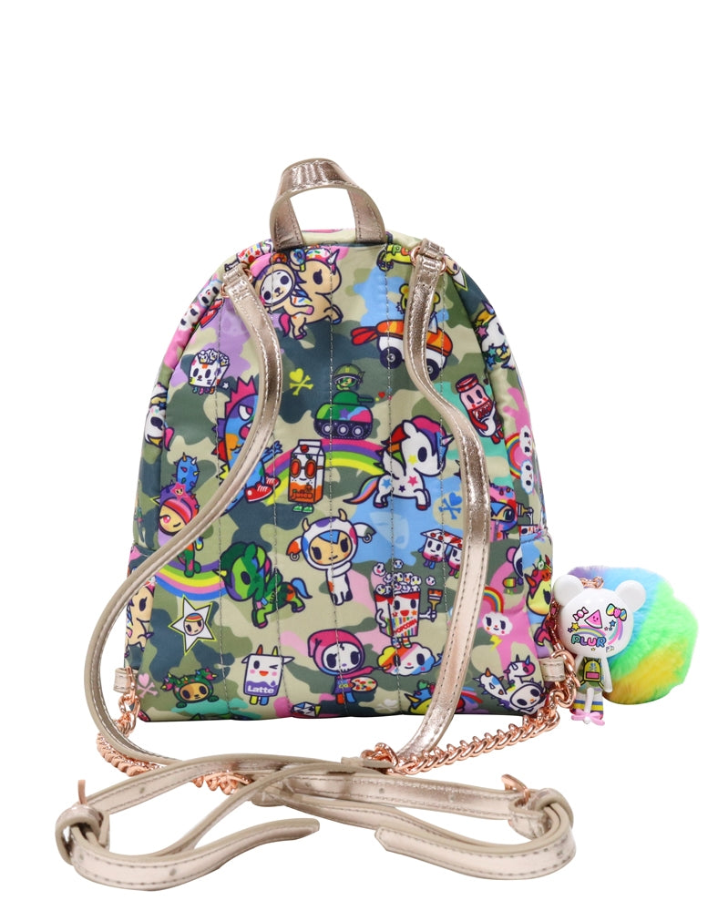 Camo Kawaii Mini Backpack back