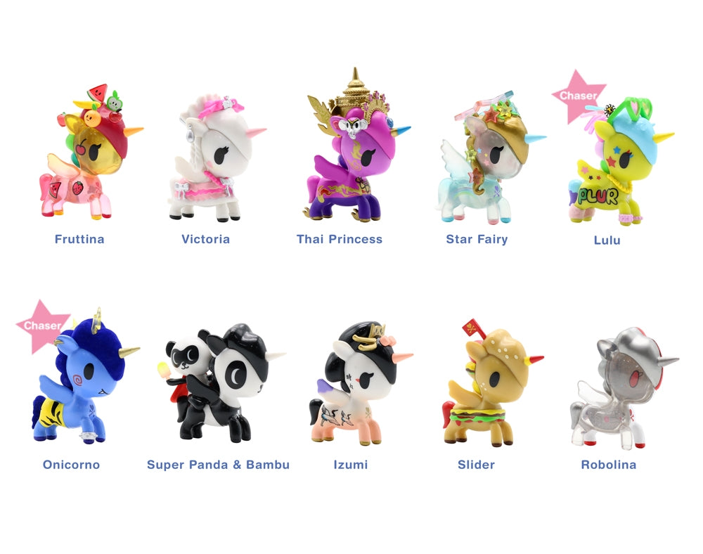 Unicorno Series 7 Blind Box figures with names