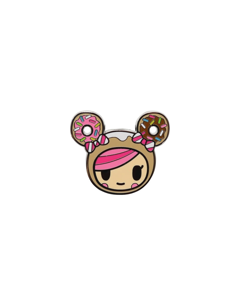 Kawaii Metropolis Enamel Pin 3-Pack Donutella Close-up