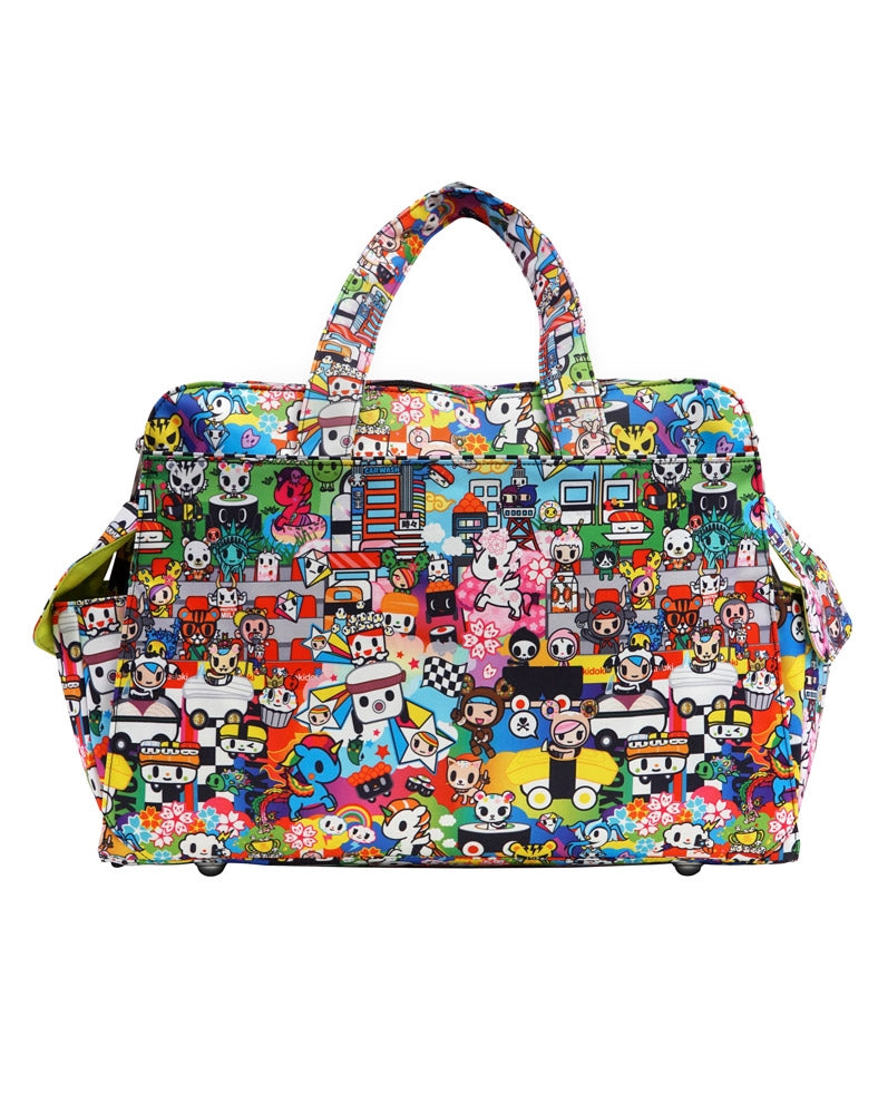 tokidoki x Ju-Ju-Be Be Prepared Diaper Bag Sushi Cars back