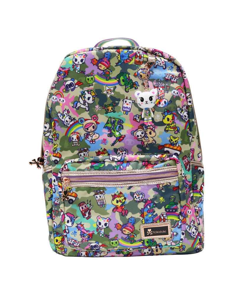 Camo Kawaii Backpack front
